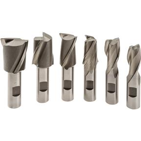 6 pc. End Mill Set - 2 Flute, Large