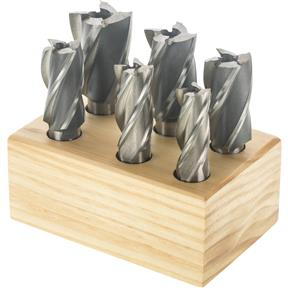6 pc. End Mill Set - 4 Flute, Large