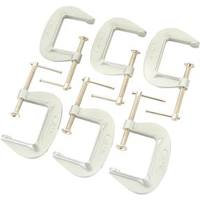 "Aluminum C-Clamps - Set of 6 - 3"" Opening"