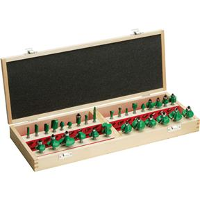 Carbide Tipped Bit 30 pc. Set In Wooden Case