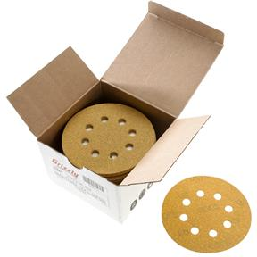 "5"" A/O Sanding Disc, 80-C Grit H&L 8 Hole, 50 pk."