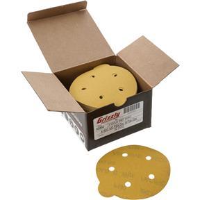 "5"" A/O Sanding Disc, 180-C Grit PSA 5 Hole, 50 pk."