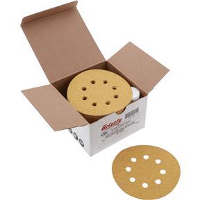 "5"" A/O Sanding Disc, 60-C Grit PSA 8 Hole, 50 pk."