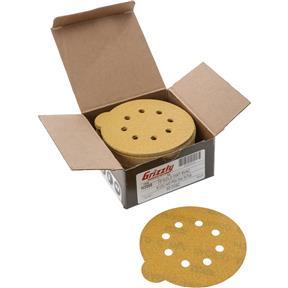 "5"" A/O Sanding Disc, 120-C Grit PSA 8 Hole, 50 pk."