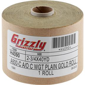 "2-3/4"" x 120' A/O Sanding Roll 600-C Grit"