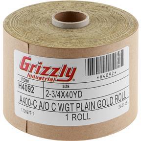 "120' x 2-3/4"" A/O Sanding Roll 400-C Grit"