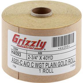 "2-3/4"" x 120' A/O Sanding Roll 320-C Grit"