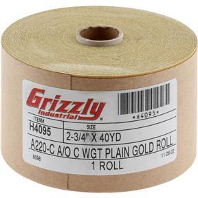 "120' x 2-3/4"" A/O Sanding Roll 220-C Grit"