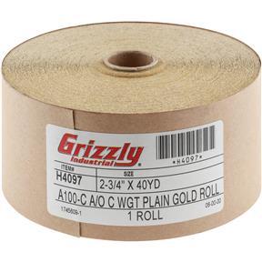 "2-3/4"" x 120' A/O Sanding Roll 100-C Grit"