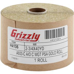 "2-3/4"" x 120' A/O Sanding Roll 600-C Grit, PSA"