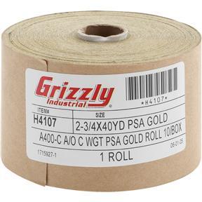 "2-3/4"" x 120' A/O Sanding Roll 400-C Grit, PSA"