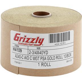 "2-3/4"" x 120' A/O Sanding Roll 240-C Grit, PSA"