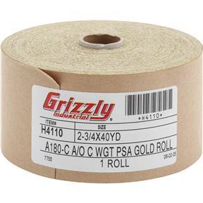 "2-3/4"" x 120' A/O Sanding Roll 180-C Grit, PSA"