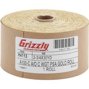 "2-3/4"" x 90' A/O Sanding Roll 100-C Grit, PSA"