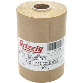 "4-1/2"" x 30' A/O Sanding Roll 100-C Grit, PSA"
