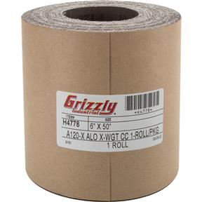 "6"" x 50' A/O Sanding Roll 120 Grit, Cloth"