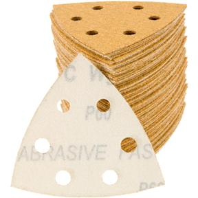 A/O Sandpaper Triangle, 60 Grit H&L 6 Hole, 100 pk.