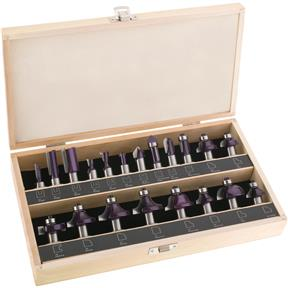 "Router Bit 20 pc. Set, 1/2"" Shank"