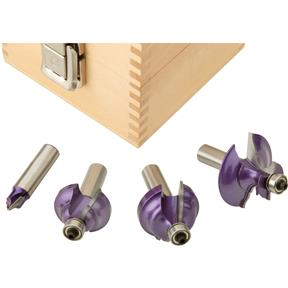 "Classical Bit 4 Pc. Set, 1/2"" Shank"