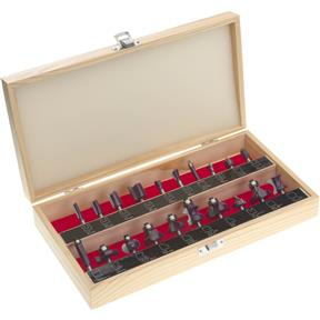 "Router Bit 20 Pc. Set, 1/4"" Shank"