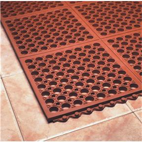 Terra Cotta Grease Proof Mat 3' x 3' x 3/4""