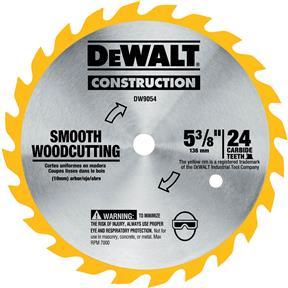 "5-3/8"" x 10mm 24t ATB .060 Smooth Cutting Blade"