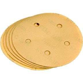 "5"" A/O Sanding Disc, 400-C Grit H&L 5 Hole, 5 pk."