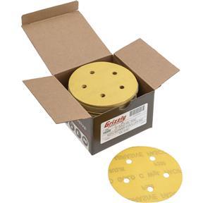"5"" A/O Sanding Disc, 320-C Grit H&L 5 Hole, 100 pk."