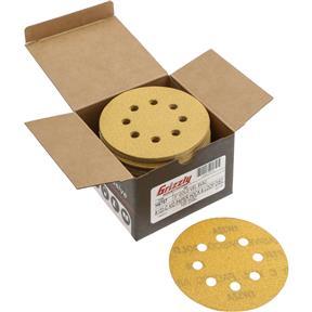 "5"" A/O Sanding Disc, 120-C Grit H&L 8 Hole, 100 pk."