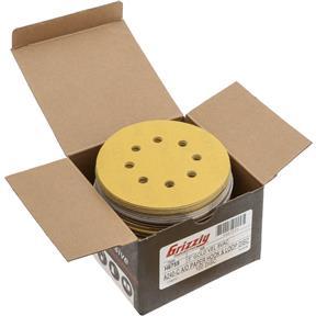 "5"" A/O Sanding Disc, 240-C Grit H&L 8 Hole, 100 pk."