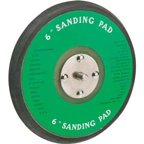 "6"" H&L Replacement Sanding Pad with Holes"