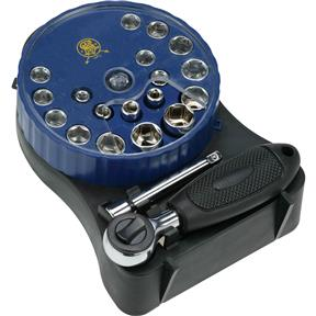 21 pc. Ratchet & Socket Dispenser Kit