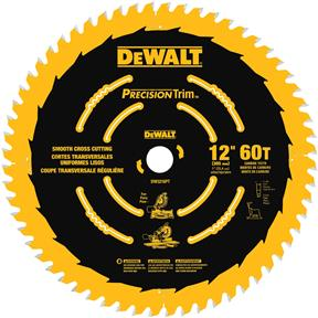 "12"" x 1"" 60t ATB .079 Precision Trim Saw Blade"