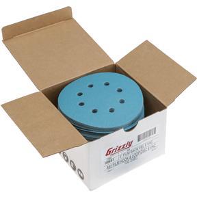 "5"" A/O Sanding Disc, 80 Grit H&L 8 Hole, 100 pk."