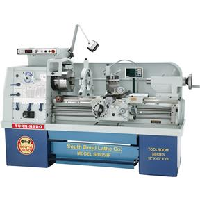 "18"" x 40"" Electronic Variable-Speed Lathe with DRO"