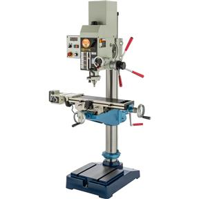 "21"" Variable-Speed Gearhead Drill Press With Cross Slide Table"