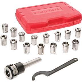 16 Piece Quick Change Collet Set, R8