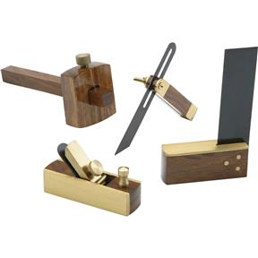 4pc Miniature Woodworking Set