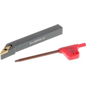 """Turning/Profiling Toolholder SVJBR 3/8"""" x 2-1/2"""", 3-Deg. Cutting Angle, RH"""