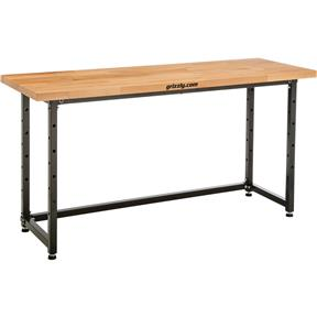 "72"" x 25"" Heavy-Duty Workbench - Beech"