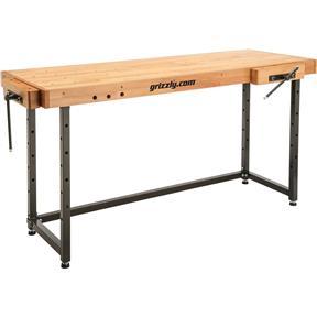 """72"""" x 25"""" Beech Cabinetmaker's Workbench"""