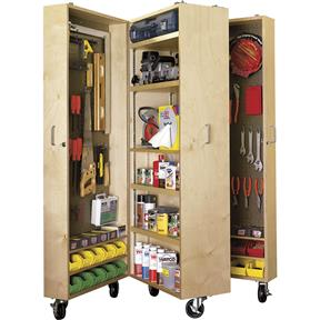 Paper Project Plans to Build a Mobile Tool Cabinet