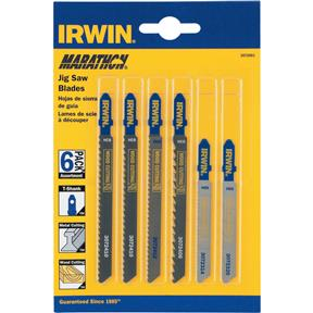 Universal 6 pc. Jigsaw Blade Assortment, T-Shank