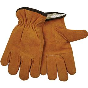 Golden Cowhide Gloves, Medium