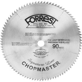 "12"" x 1"" 90t .109 Signature Chopmaster Precision Trim Blade"