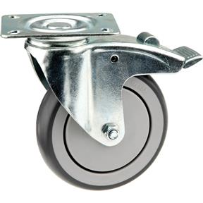 "5"" Flat Top Swivel Caster with Brake"