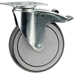"""6"""" Flat Top Swivel Caster with Brake"""