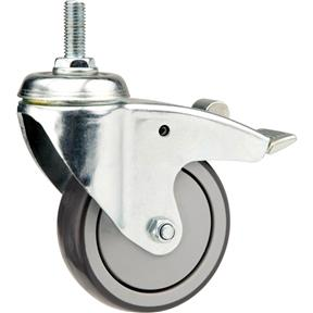 """4"""" Post Mount Swivel Caster with Brake"""
