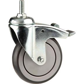 "5"" Post Mount Swivel Caster with Brake"