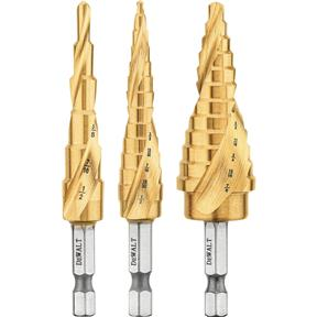 Impact Ready Step Drill Bit Set, 3 pc.